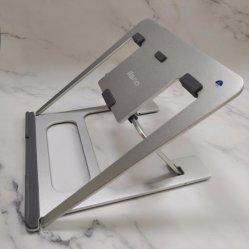 Laptop van de Legering van het Aluminium van de Verkoop van de fabriek Directe Tribune met de Regelbare Houder van de Tablet van de Hoek Lichtgewicht Draagbare