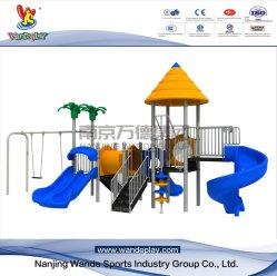 De plastic Apparatuur van de Speelplaats van het Pretpark van de Dia Openlucht met Schommeling