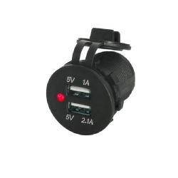 5V 3.1A 기관자전차 배 차 이중 USB 자동 차 충전기