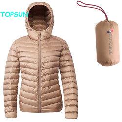 La mujer Packable Down Jacket con encapuchado señoras la moda ligero acolchado Puffer ropa ropa