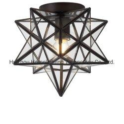 Jlc-G014 Moravo de aceite de la estrella de metal de bronce frotado montaje a ras de cristal Lámpara de techo