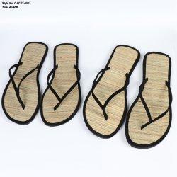 Alfombra de la playa de paja de las niñas zapatilla Zapatilla de verano