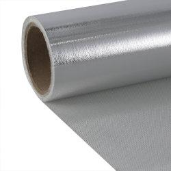 Resistencia al calor de aluminio One-Sided de fibra de vidrio recubierto de tela de protección contra incendios