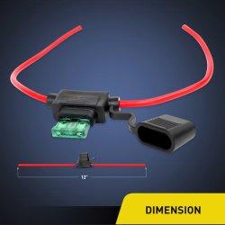 Adicione-a-Circuito Tipo Lâmina de fusível em linha de detentor de calibre 16 com tampa