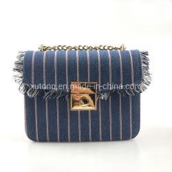 ジーンが付いているデザイン対照カラー女性革女性のCrossbody新しいHandbags PU袋