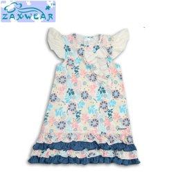 Zaxwear own Design 우아하고 아름다운 꽃 패턴 Long Girl 드레스