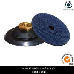 Flexible de 100mm Backer de Velcro de las pastillas para la conexión de almohadilla de pulir de resina