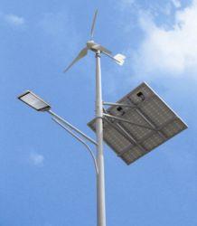 Vent solaire hybride lumière LED de la rue
