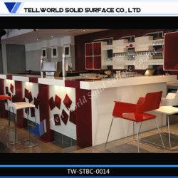 Tw superfícies Corian Acrylic moderno Restaurante Bar Counter Contador Bar/Pub