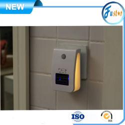 Generador automático de detección de las personas ion negativo anión luz nocturna Releaser Indoor wc / Sala de estar / Cocina / Limpiador Dormitorio Eliminador de olor Inicio purificador de aire