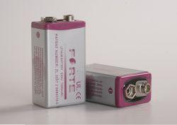 Batterie au lithium 9 V à plat Akaline batterie 6f22