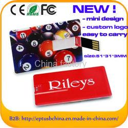 2.0 버전 주문 휴대용 신용 카드 USB 섬광 드라이브 (EC017)
