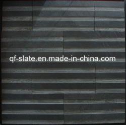 壁の装飾の石または壁の石(P-XZ03LP)のための自然で黒い築壁のスレート