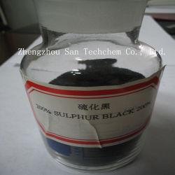 Farben-Schwefel-Schwarz-Br 180% 200% 220% 240% für Gewebe