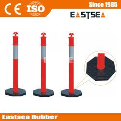 Base nera in plastica T-Top per la sicurezza stradale Delineator Messaggio