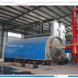 真空の原油に使用されたタイヤをリサイクルする連続的な熱分解ラインか機械装置またはシステム