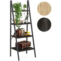 ホームオルガナイザーの記憶ラック4層の本箱型の産業木および金属の本だな