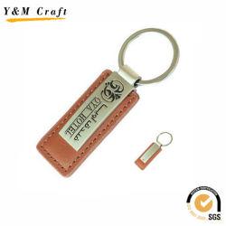 Brown-Farben-Schwarz-weiche Decklack-Fülle PU-Schlüsselketten Ym1032
