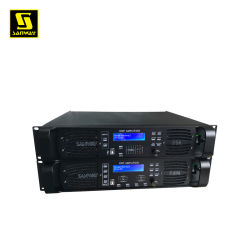 D10q 4CH プロフェッショナル・デジタル高出力 DSP オーディオ・スピーカ・アンプ、 2 Ω 安定型サウンド・アンプ DJ ステレオ・アンプ