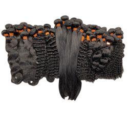 حزمة أنجيلبيلا البرازيلية للشعر البشري، 100 الشعر الأصلي من فتاة صغيرة جدا، أسعار الشعر البرازيلي في موزمبيق