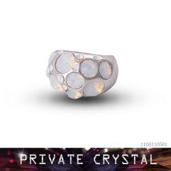 De Ringen van het Kristal van de manier die met Elementen Swarovski worden gemaakt (11001105)