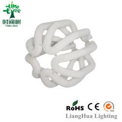 China Tricolor 100% 8000h T5 de alta calidad a bajo precio Hangzhou Lotus CFL tubo de cristal lámpara con tubo de CFL RoHS CE