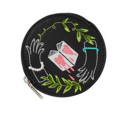 Творческие моды мини дамской сумочке провод фиолетового цвета кожи леди кошелек маленький круглый медали кошелек оптовая торговля женщинами кошелек