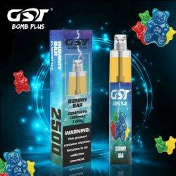 最も熱い販売の2500のパフ10のおいしい味の卸しで使い捨て可能なVapeのペンの蒸気とGstの爆弾