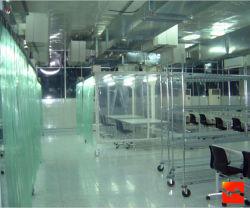 Commerce de gros de rideau de porte en polyester / rideau transparent
