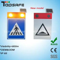 CE 인증을 받은 LED 알루미늄 솔라 보행자 표지