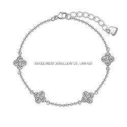 Commerce de gros Fashion Hot vendre Silver Bracelet Trèfle à Quatre feuilles pour les filles
