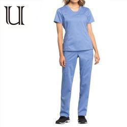 La corrección médica azul Ceil Enfermería uniforme UNIFORME uniforme de enfermera de Hospital de prendas de vestir uniforme médico
