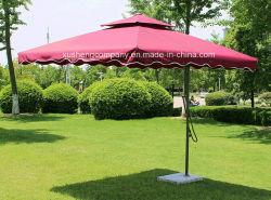 普及した屋外の庭のテラスは鋼鉄傘を手で押す