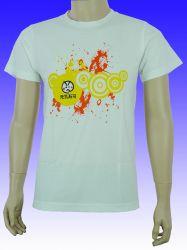 Heat Transfer Round Neck Cotton Lady T-shirt met korte mouwen