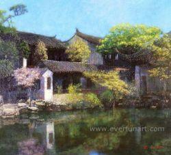 美しく、Attractive Village Scene Paintings (ESL-117)