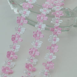Mode fleur tressé décoratif de bandes de fantaisie de gros de bande