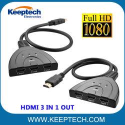HDMI 3 en 1 Switch Divisor HDMI 1080p de HDCP