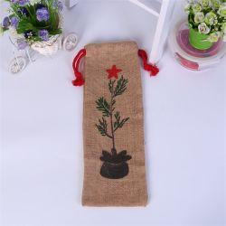 Специальный мешочек джута, рекламных Wholesales Custom небольшой чехол ткань ткань подарок хлопок Canvas Muslin Калико природных магазинов мешок для упаковки для хранения вина