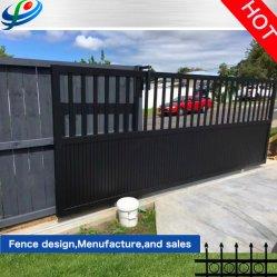 L'intérieur/coulissante automatique/Métal/revêtement poudré noir en aluminium/acier galvanisé/jardin/Fer forgé/coulissant/Allée de clôture de la porte à des fins résidentielles/jardin/chambre