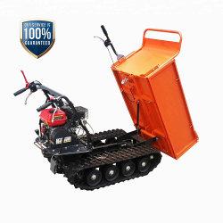 Hydraulischer neigender Minikipper 500kgs verwendet für Bauernhof-Arbeit oder Bauarbeiten, mit Benzin-Bewegungsgeländefahrzeug-Gleiskette Edh500b