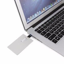 고속 USB 3.0 저속한 드라이브 8GB 16GB 32GB 금속 은 신용 카드 은행 크레디트 카드