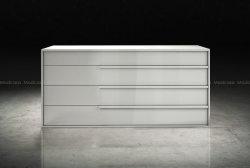 Grand rangement moderne en bois commode Aria/Armoire
