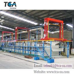 A linha de produção de galvanização de oxidação anódica plaqueamento automática para o Alumínio
