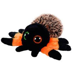 毛深い動物オレンジHalloweenのくものプラシ天のおもちゃ15cm