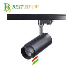 IP44 15 38 45 60 Degré Angle de faisceau de lumière LED Zoomable voie pour Galerie