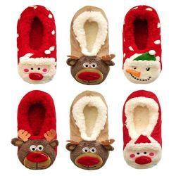 Pantoffels van de Pluche van Kerstmis van de nieuwigheid de Binnen Zachte Warme als Gift