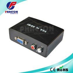 VGA a HDMI Convertidor de audio analógico-Digital Video Converter.