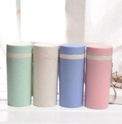 Neue Art BPA geben bewegliche umweltfreundliche natürliche Plastikweizen-Stroh-Wasser-Flasche mit Kappe mit Seil frei