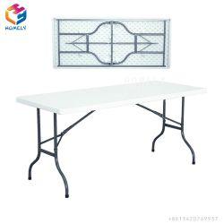 Parte exterior de plástico de HDPE piquenique mesa e cadeira dobrável