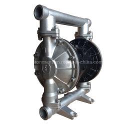 En acier inoxydable Qby grand débit de pompe à double membrane pneumatique